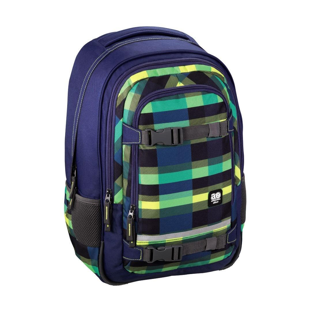 All Out Rucksack Selby Check Green
