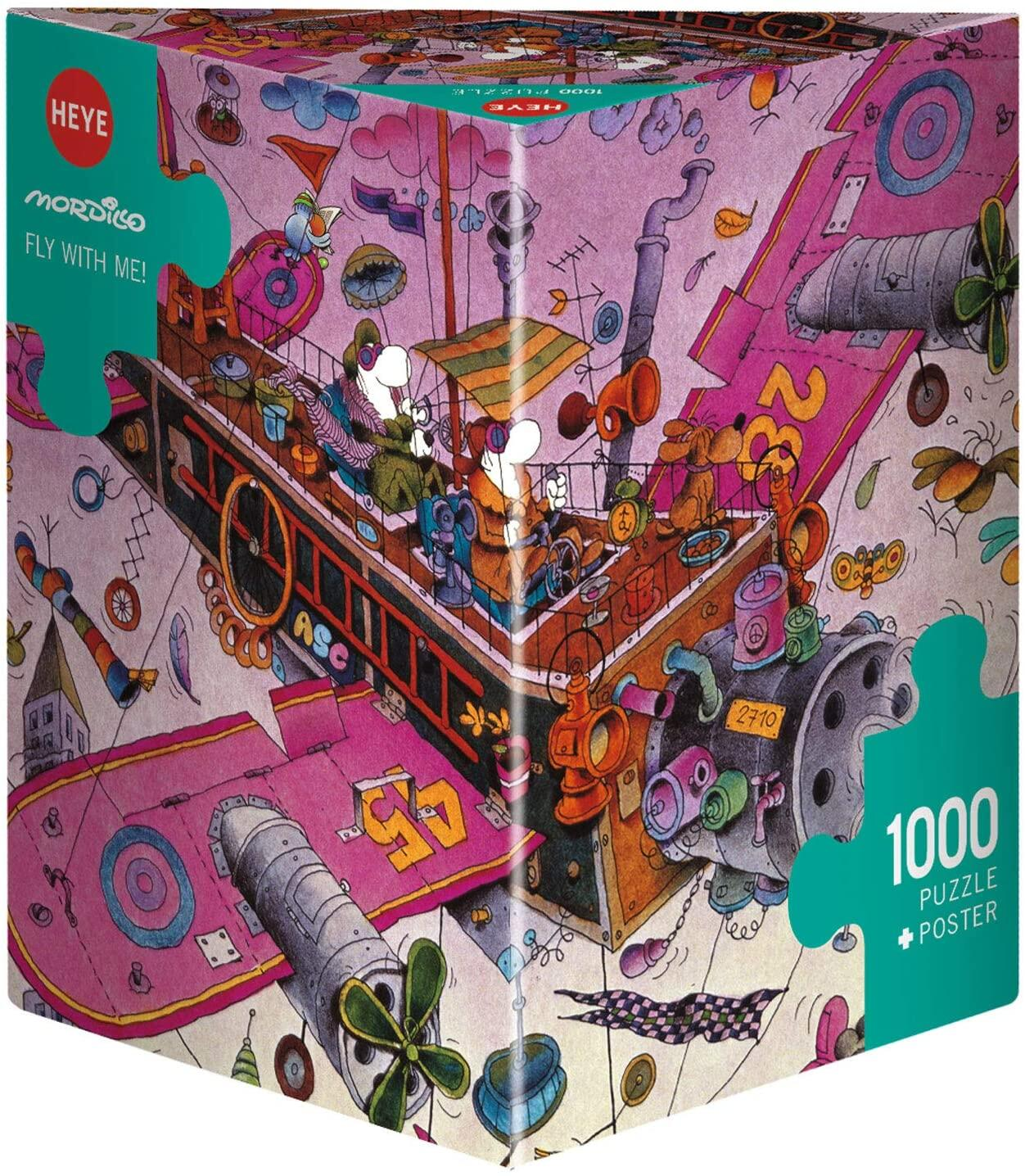 HEYE Puzzle 1000 Teile Mordillo Fly With Me