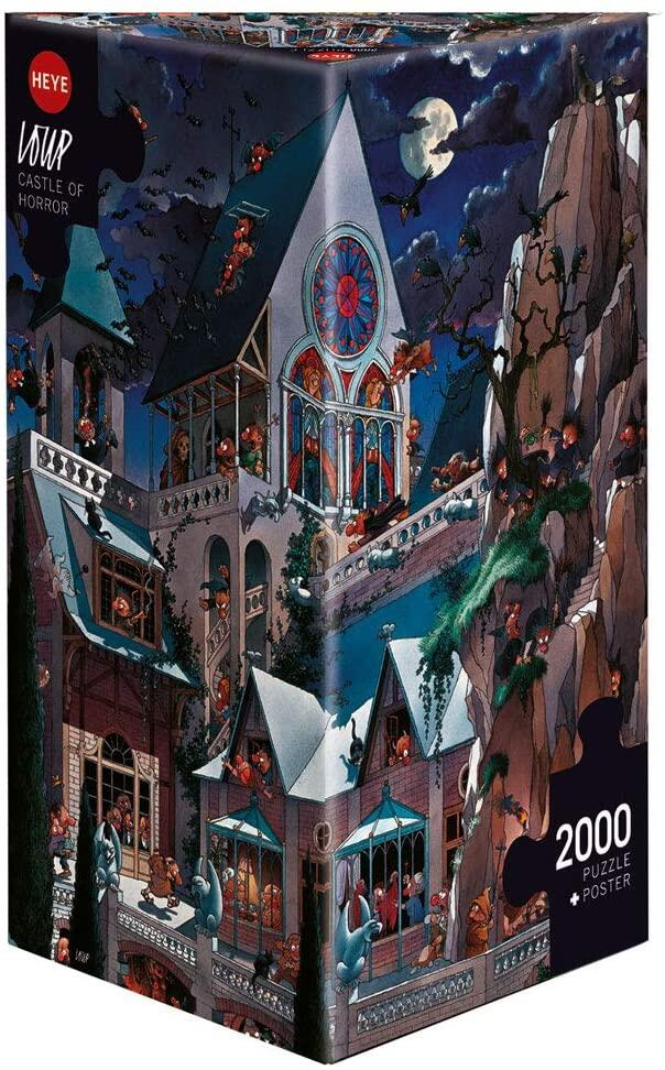 HEYE Puzzle 2000 Teile Loup Castle of Horror