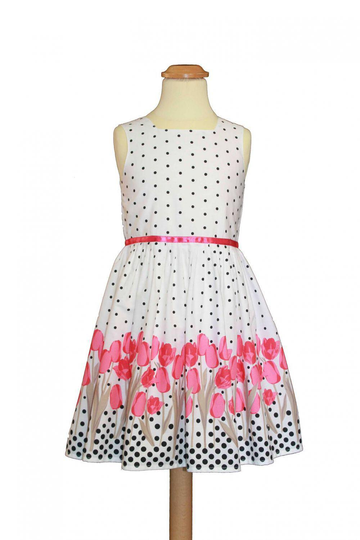 Sommerkleid Sommerkleid Pink Mädchen Tulpen Tulpen Kleid Kleid Mädchen zpGjqVSUML