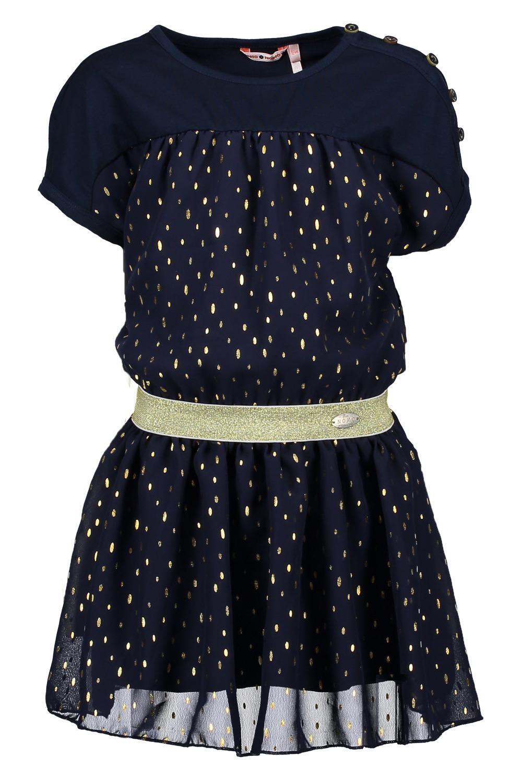 NONO Kinder Mädchen Kleid festlich Mony blau