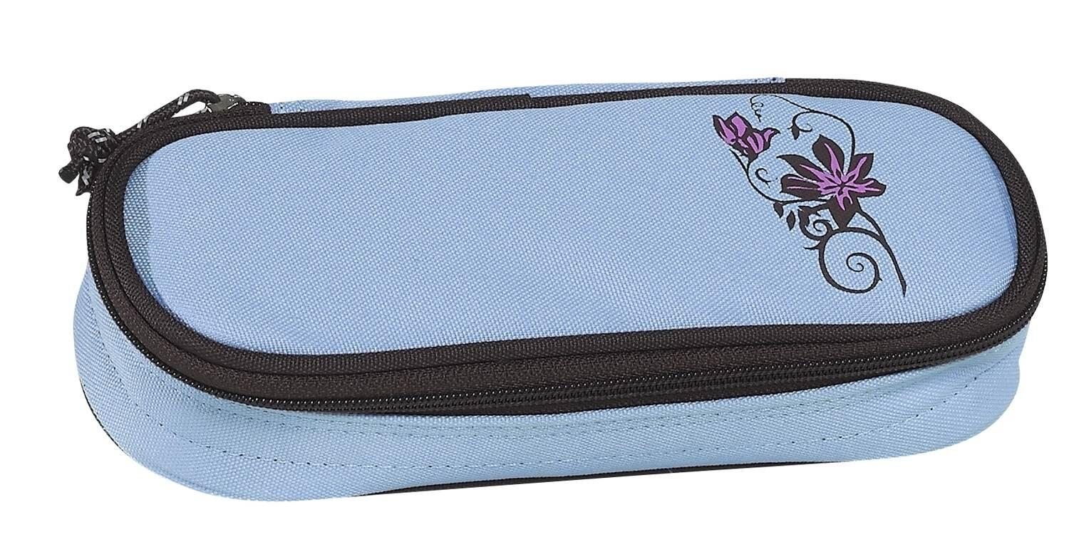 TAKE IT EASY Etui Box Beauty Flower blau