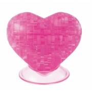 3D Crystal Puzzle 46 Teile Herz pink