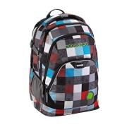 Coocazoo Rucksack Schulrucksack EVVERCLEVVER 2 Checkmate Blue Red
