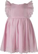 Happy Girls Babykleid mit Lochstickerei rosa