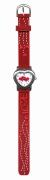 Kids Watch Kinder Armbanduhr Herzchen rot