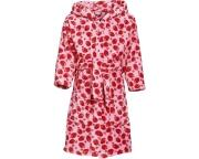 Kinder Bademantel Fleece Erdbeere