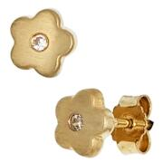 Kinder Ohrstecker Gold Blume