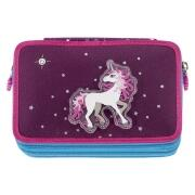SBS Federtasche XXL Federmäppchen Flash Unicorn