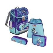 Step by Step Light 2 Schulranzen Set Delfin Happy Dolphins
