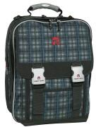 TAKE IT EASY Schulrucksack BLUE PLAID