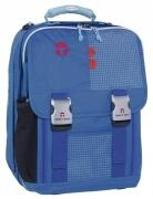 TAKE IT EASY Schulrucksack Set BLUE CARO 4-tlg