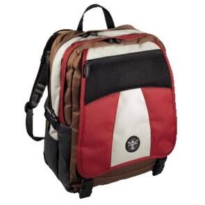 Chiemsee Schulrucksack STREET red brown