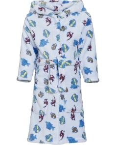 Kinder Bademantel Fleece Fische