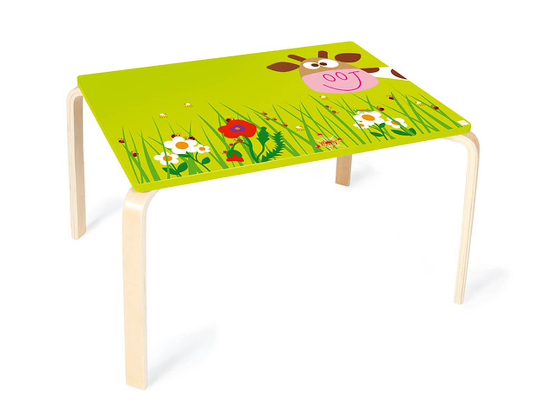 scratch holz kinder tisch kuh marie. Black Bedroom Furniture Sets. Home Design Ideas